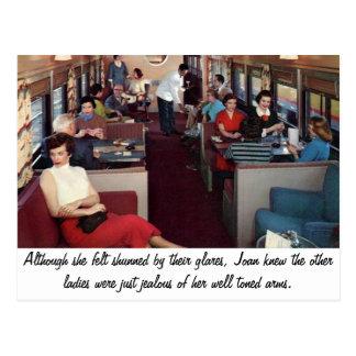 Funny Retro Scene Postcard