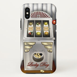 Funny Retro Slot Machine iPhone X Case