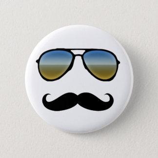 Funny Retro Sunglasses with Moustache Button