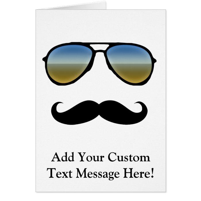 Funny Retro Sunglasses with Moustache Card