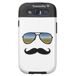 Funny Retro Sunglasses with Moustache Samsung Galaxy S3 Cases