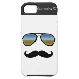 Funny Retro Sunglasses with Moustache iPhone SE/5/5s Case