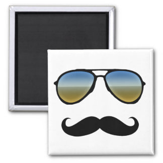 Funny Retro Sunglasses with Moustache Magnet