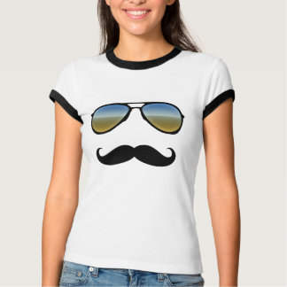 Funny Retro Sunglasses with Moustache T-Shirt