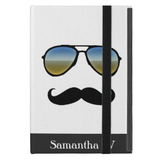 Funny Retro Sunglasses with Mustache Cover For iPad Mini