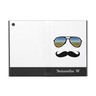 Funny Retro Sunglasses with Mustache Case For iPad Mini