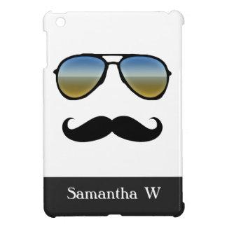 Funny Retro Sunglasses with Mustache iPad Mini Cases