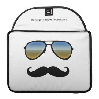 Funny Retro Sunglasses with Mustache Sleeves For MacBook Pro
