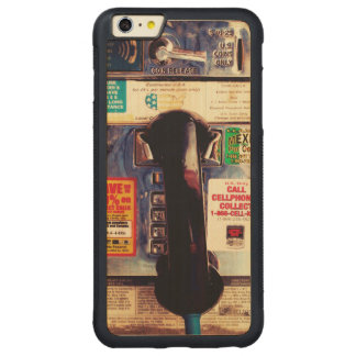 Funny Retro US Public Pay Phone Close Up Picture Carved® Maple iPhone 6 Plus Bumper
