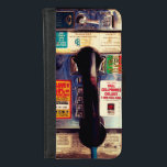 """Funny Retro US Public Pay Phone Close Up Picture iPhone 8/7 Wallet Case<br><div class=""""desc"""">Funny Retro US Public Pay Phone Close Up Look - Pretty Cool and Unique iPhone 6 Case for you.</div>"""