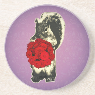 Funny Retro Valentines Day Drink Coaster