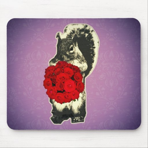 Funny Retro Valentines Day Mouse Pad