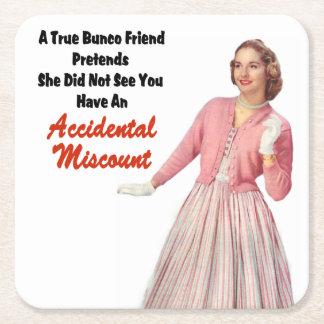 Funny Retro Vintage Bunco Coasters