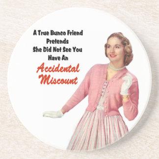 Funny Retro Vintage Bunco Drink Coaster