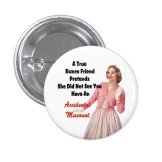 Funny Retro Vintage Bunco Prize Button