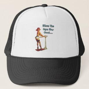 Funny Retro Vintage PinUP Girl Gym Trucker Hat