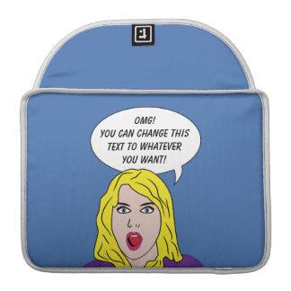 FUNNY RETRO WOMAN custom MacBook sleeves