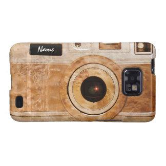 Funny Retro Wood Burl Camera Samsung Galaxy SII Cases