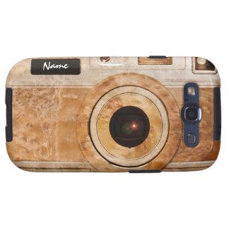 Funny Retro Wood Burl Camera Galaxy SIII Cases