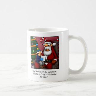 "Funny ""Reviewing Christmas List with Santa"" Mug"