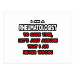 Funny Rheumatologist T-Shirts and Gifts Postcard