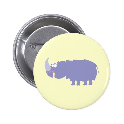 Funny Rhino Pinback Buttons