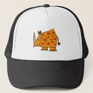 Funny Rhino Cartoon Trucker Hat