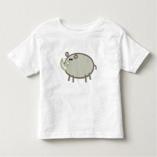 Funny Rhino on White Toddler T-shirt