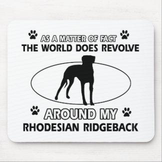 funny RHODESIAN RIDGEBACK designs Mouse Pad
