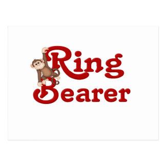 Funny Ring Bearer Postcard