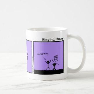 Funny Ringing Phone Stickman Mug - 101