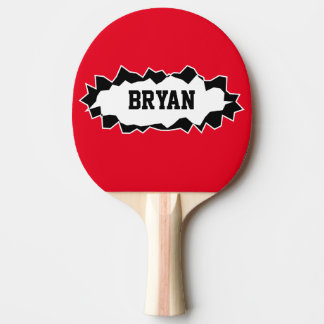 Funny ripped hole table tennis ping pong paddle