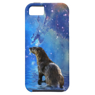 Funny River Otter and Space Nebulae Astronomy Pun iPhone SE/5/5s Case
