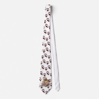 Funny River Otter & Footprints, Tracks Neck Tie