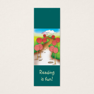 Funny road bookmark mini business card