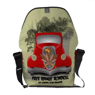 Funny Road kill Messenger Bag