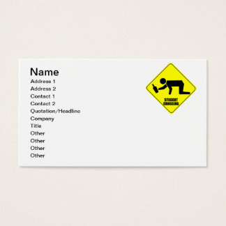 Funny Road Sign - Drunk Student Crossing Business Card