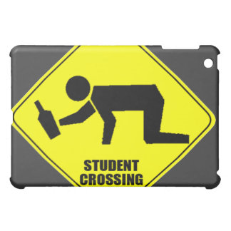 Funny Road Sign - Drunk Student Crossing Case For The iPad Mini