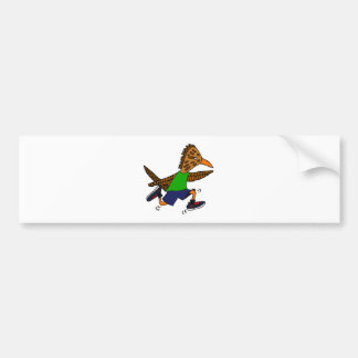 Funny Roadrunner Jogger Cartoon Bumper Sticker