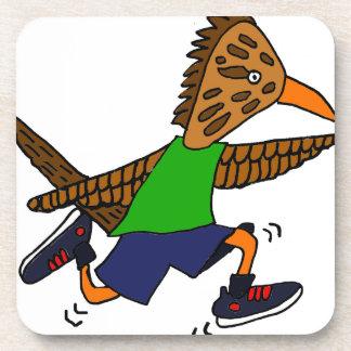 Funny Roadrunner Jogger Cartoon Coaster