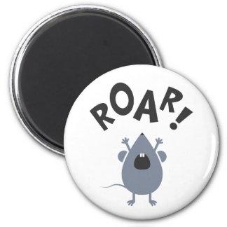 Funny Roar Mouse Design Magnet