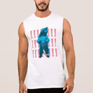 Funny Roaring Bear Sleeveless Shirt
