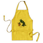 Funny robot and cat apron design