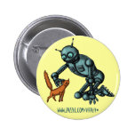 Funny robot and cat button design