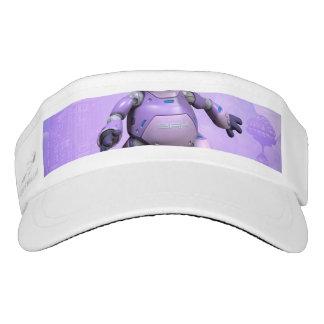 Funny robot cat headsweats visor
