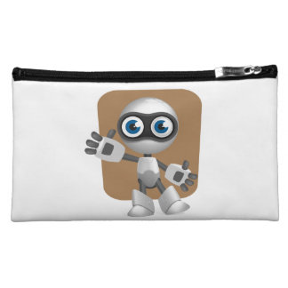Funny Robot Cosmetic Bag