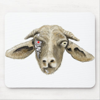 Funny robotic goat novelty art computer mouse mat mouse pad