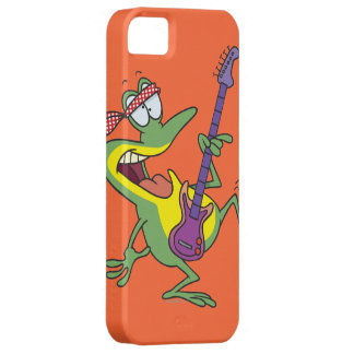funny rock and roll bass guitar froggy frog iPhone SE/5/5s case