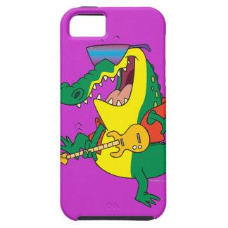 funny rock and roll crocodile music cartoon iPhone SE/5/5s case