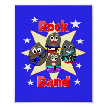 Art Themed Funny Rock Band Rock Painting Fans Graphic Poster